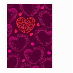 Love Heart Polka Dots Pink Large Garden Flag (Two Sides)