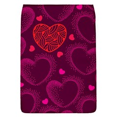 Love Heart Polka Dots Pink Flap Covers (S)