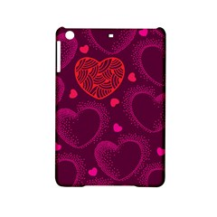 Love Heart Polka Dots Pink iPad Mini 2 Hardshell Cases