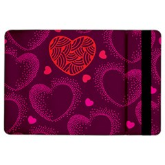Love Heart Polka Dots Pink Ipad Air 2 Flip