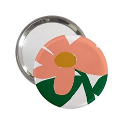 Peach Sunflower Flower Pink Green 2.25  Handbag Mirrors