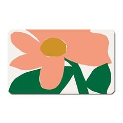 Peach Sunflower Flower Pink Green Magnet (Rectangular)