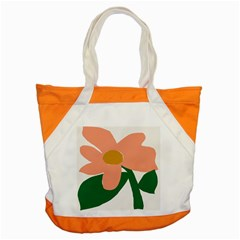 Peach Sunflower Flower Pink Green Accent Tote Bag