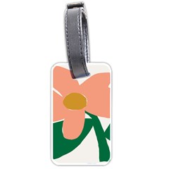 Peach Sunflower Flower Pink Green Luggage Tags (two Sides)