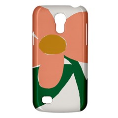 Peach Sunflower Flower Pink Green Galaxy S4 Mini