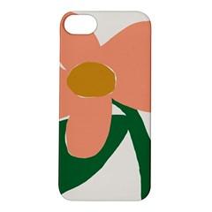 Peach Sunflower Flower Pink Green Apple iPhone 5S/ SE Hardshell Case