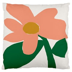 Peach Sunflower Flower Pink Green Large Flano Cushion Case (One Side)