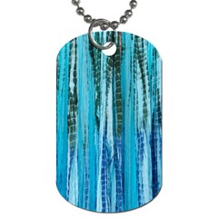 Line Tie Dye Green Kaleidoscope Opaque Color Dog Tag (One Side)