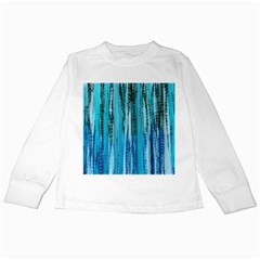 Line Tie Dye Green Kaleidoscope Opaque Color Kids Long Sleeve T Shirts