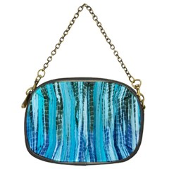 Line Tie Dye Green Kaleidoscope Opaque Color Chain Purses (Two Sides)