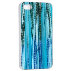Line Tie Dye Green Kaleidoscope Opaque Color Apple iPhone 4/4s Seamless Case (White)