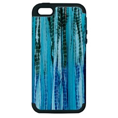 Line Tie Dye Green Kaleidoscope Opaque Color Apple iPhone 5 Hardshell Case (PC+Silicone)