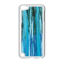 Line Tie Dye Green Kaleidoscope Opaque Color Apple iPod Touch 5 Case (White)