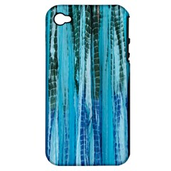 Line Tie Dye Green Kaleidoscope Opaque Color Apple iPhone 4/4S Hardshell Case (PC+Silicone)