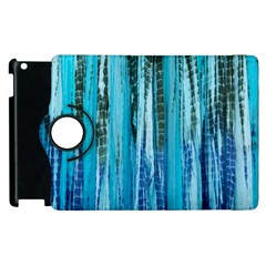 Line Tie Dye Green Kaleidoscope Opaque Color Apple iPad 2 Flip 360 Case