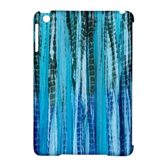 Line Tie Dye Green Kaleidoscope Opaque Color Apple iPad Mini Hardshell Case (Compatible with Smart Cover)