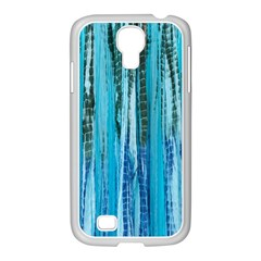 Line Tie Dye Green Kaleidoscope Opaque Color Samsung GALAXY S4 I9500/ I9505 Case (White)