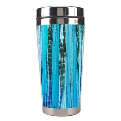 Line Tie Dye Green Kaleidoscope Opaque Color Stainless Steel Travel Tumblers