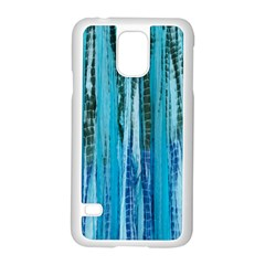 Line Tie Dye Green Kaleidoscope Opaque Color Samsung Galaxy S5 Case (White)