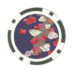 Original Butterfly Carnation Poker Chip Card Guard (10 pack)