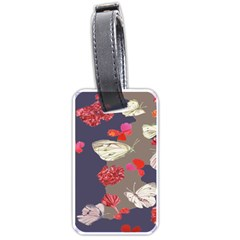 Original Butterfly Carnation Luggage Tags (Two Sides)