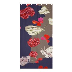 Original Butterfly Carnation Shower Curtain 36  x 72  (Stall)