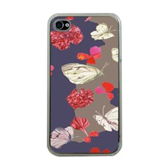 Original Butterfly Carnation Apple iPhone 4 Case (Clear)