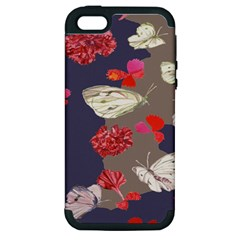 Original Butterfly Carnation Apple iPhone 5 Hardshell Case (PC+Silicone)
