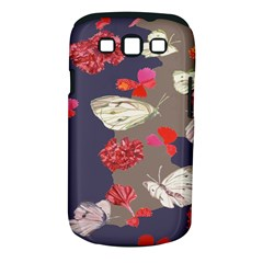 Original Butterfly Carnation Samsung Galaxy S III Classic Hardshell Case (PC+Silicone)