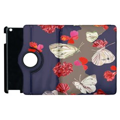 Original Butterfly Carnation Apple iPad 2 Flip 360 Case
