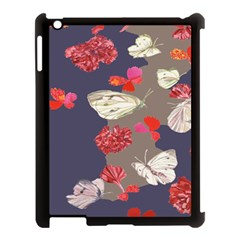 Original Butterfly Carnation Apple iPad 3/4 Case (Black)