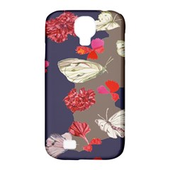 Original Butterfly Carnation Samsung Galaxy S4 Classic Hardshell Case (PC+Silicone)