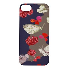 Original Butterfly Carnation Apple iPhone 5S/ SE Hardshell Case