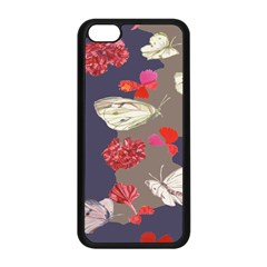Original Butterfly Carnation Apple iPhone 5C Seamless Case (Black)
