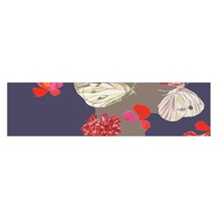Original Butterfly Carnation Satin Scarf (Oblong)