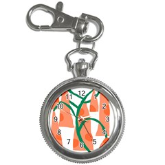Portraits Plants Carrot Polka Dots Orange Green Key Chain Watches