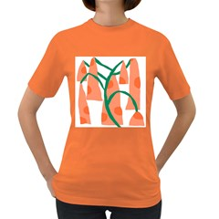 Portraits Plants Carrot Polka Dots Orange Green Women s Dark T-Shirt
