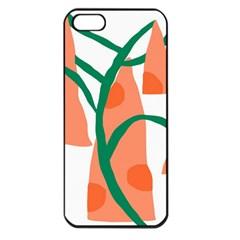 Portraits Plants Carrot Polka Dots Orange Green Apple iPhone 5 Seamless Case (Black)