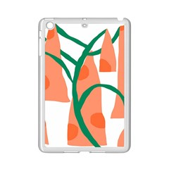 Portraits Plants Carrot Polka Dots Orange Green iPad Mini 2 Enamel Coated Cases