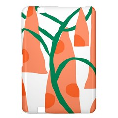 Portraits Plants Carrot Polka Dots Orange Green Kindle Fire HD 8.9