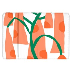 Portraits Plants Carrot Polka Dots Orange Green Samsung Galaxy Tab 8.9  P7300 Flip Case