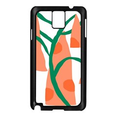 Portraits Plants Carrot Polka Dots Orange Green Samsung Galaxy Note 3 N9005 Case (Black)