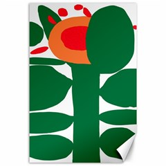 Portraits Plants Sunflower Green Orange Flower Canvas 24  x 36