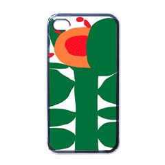 Portraits Plants Sunflower Green Orange Flower Apple iPhone 4 Case (Black)