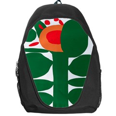 Portraits Plants Sunflower Green Orange Flower Backpack Bag