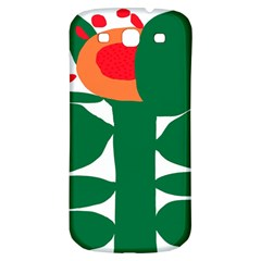 Portraits Plants Sunflower Green Orange Flower Samsung Galaxy S3 S III Classic Hardshell Back Case