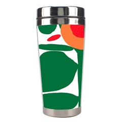 Portraits Plants Sunflower Green Orange Flower Stainless Steel Travel Tumblers