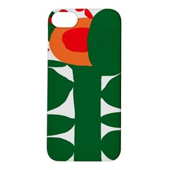 Portraits Plants Sunflower Green Orange Flower Apple iPhone 5S/ SE Hardshell Case