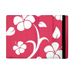 Pink Hawaiian Flower White Apple iPad Mini Flip Case