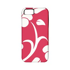 Pink Hawaiian Flower White Apple iPhone 5 Classic Hardshell Case (PC+Silicone)